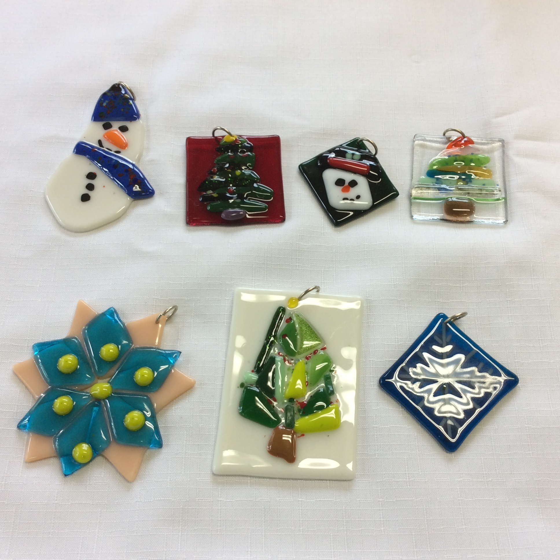 Fused Glass Holiday Ornaments Glass House